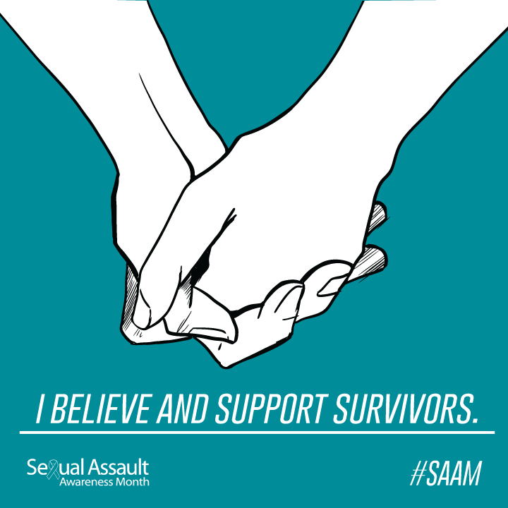 holding hands with text that says I believe survivors